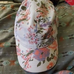 White floral hat